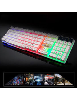 Usb Wired Keyboard Gaming Qwerty Illuminate 3 Led Color Backlight Multimedia by Unbranded/Generic