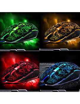 4000 Dpi Adjustable Optical Led Wired Gaming Mice Mouse For Laptop Pc Mouse Lot by Unbranded