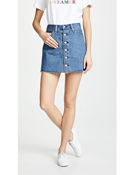 Button Front Miniskirt by Levi's