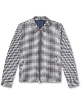 Checked Cotton Blend Bouclé Jacket by Mr P.
