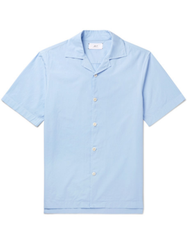 Camp Collar Cotton Poplin Shirt by Mr P.