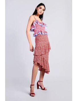 **Berries Printed Ruffle Skrt By Glamorous by Topshop
