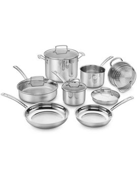 Cuisinart® Chef's Classic Pro 11 Piece Cookware Set In Stainless Steel by Bed Bath And Beyond