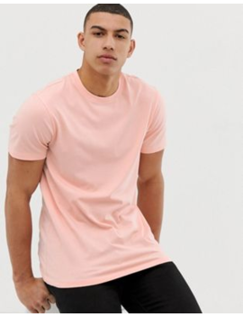 New Look Crew Neck T Shirt In Coral by New Look