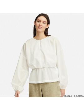Women Gathered Long Sleeve Blouse (Hana Tajima) by Uniqlo