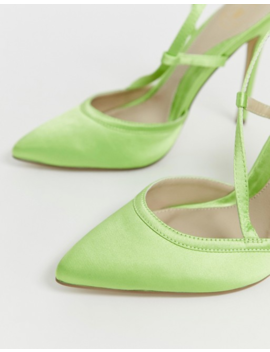 Missguided Pumps With Strap Detail In Green by Missguided