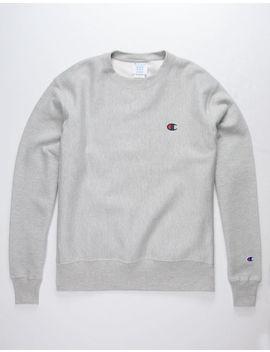 Champion Reverse Weave Oversize Gray Mens Sweatshirt by Champion