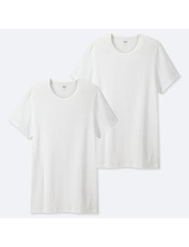 Men Supima Cotton Crew Neck T Shirt (Two Pack) by Uniqlo