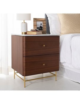 Safavieh Couture Channing 2 Drawer Nightstand by Safavieh