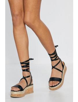 Step Up Cork Platform Sandals by Nasty Gal