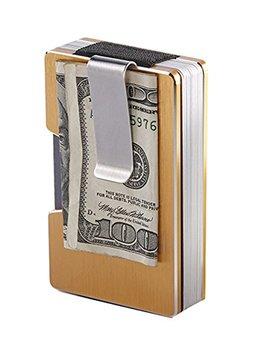 Degohome Aluminum Metal Wallet Rfid Blocking Minimalist Wallet Slim Wallet Credit Card Case Holder by Degohome
