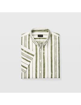 Slim Short Sleeve Stripe Shirt by Club Monaco