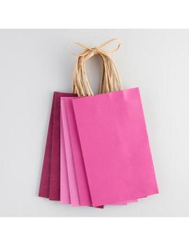 Small Pink Kraft Gift Bags Set Of 6 by World Market