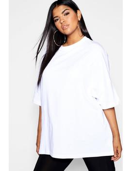Plus Woman Embroidered Oversized T Shirt by Boohoo
