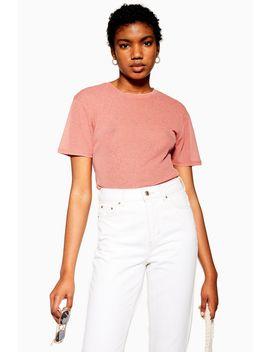 Pink Plain Mesh T Shirt by Topshop
