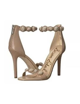 Sam Edelman Addison Leather Dress Sandals Heels   Women's Size 5 M, Nude by Sam Edelman