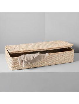 Modern Weave Underbed Storage Basket, Whitewashed by West Elm