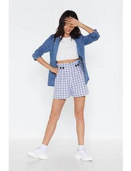 Plaid To The Bone Paperbag Shorts by Nasty Gal