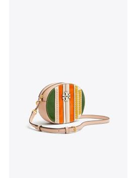 Mcgraw Pieced Convertible Round Cross Body by Tory Burch