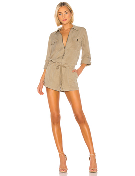 Patch Pocket Romper by Pam & Gela