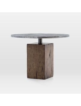 Reclaimed Wood Base Pedestal Dining Table by West Elm