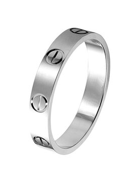 Z.Racel 4mm Gold Titanium Steel Ring Lifetime Just Love You by Z.Racel