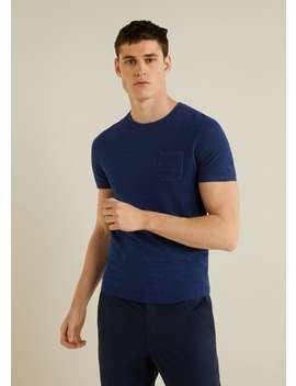 Textured Knit T Shirt by Mango