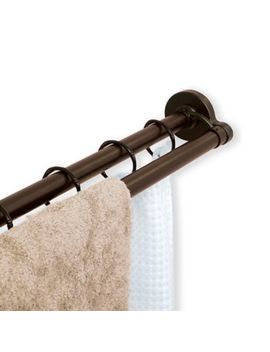 Titan® Never Rust® 72 Inch Aluminum Double Straight Tension Shower Rod In Nickel by Bed Bath And Beyond