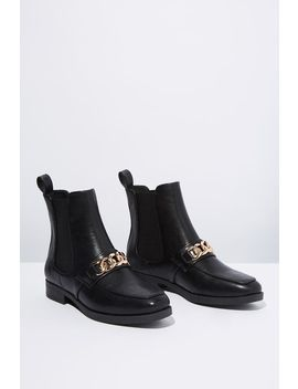 Jordy Square Toe Chain Boot by Cotton On