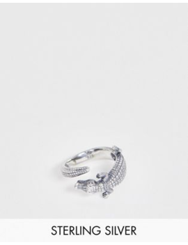 Asos Design Sterling Silver Ring With Crocodile Design by Asos Design