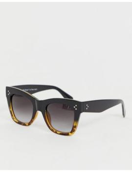 Aj Morgan Oversized Square Sunglasses In Black & Tort by Aj Morgan