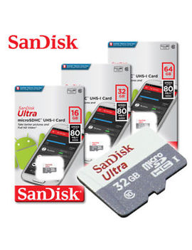 San Disk Ultra New 16 Gb 32 Gb 64 Gb Micro Sd Hc Flash Memory Card 80 Mb Class10 by San Disk