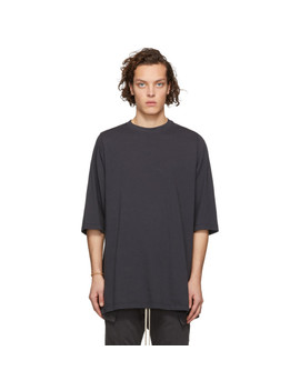 Grey Crewneck T Shirt by Rick Owens