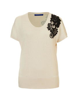 Silk Cotton Jumper With Guipure Lace by Winser London