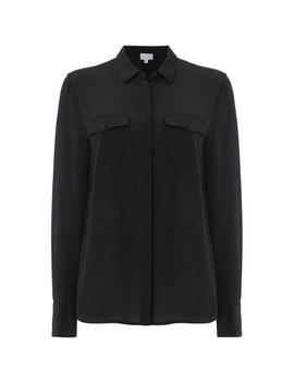 Pocket Silk Shirt by Linea