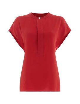 Short Sleeve Silk Blouse by Polo Ralph Lauren