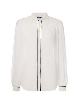 Textured Silk Shirt by Polo Ralph Lauren