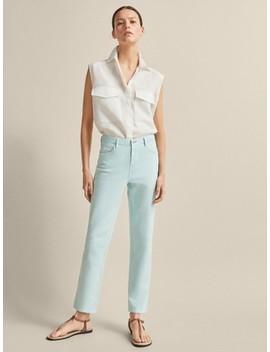Cropped Jeans Im Slim Fit Mit Halbhohem Bund by Massimo Dutti