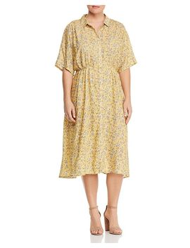 Solaz Floral Print Shirt Dress by Junarose Plus