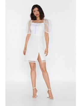 All Eyelets On You Sheer Sleeve Dress by Nasty Gal
