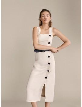GeknÖpftes Kleid Aus Reinem Leinen by Massimo Dutti
