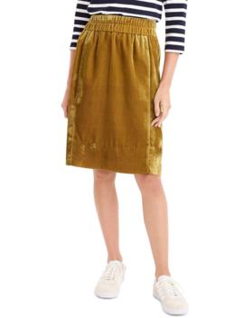 Pull On Velvet Skirt (Regular, Petite & Plus Size) by J. Crew