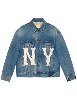 Denim Jacket With Ny Yankees™ Patch by Gucci