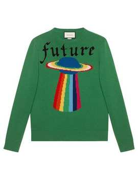 Wool Sweater With Planet Intarsia by Gucci