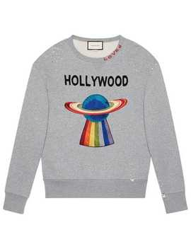 Cotton Sweatshirt With Planet by Gucci