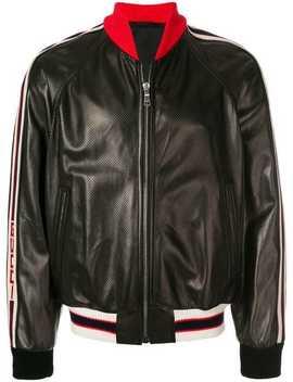Stripe Trim Bomber Jacket by Gucci