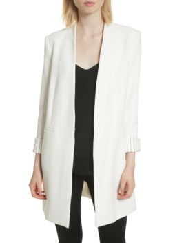Simpson Roll Cuff Collarless Blazer by Alice + Olivia