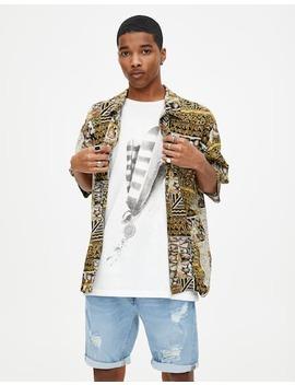 Camisa De Viscose Com Padrão Vintage by Pull & Bear