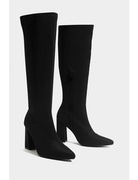 Knee High And Bye Heeled Boot by Nasty Gal