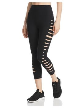 High Waist Slice Cutout Cropped Leggings by Alo Yoga